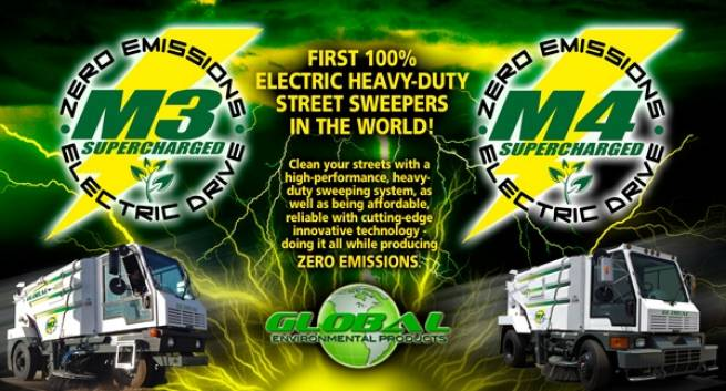 GLOBAL INTRODUCES 1ST 100% ELECTRIC HEAVY-DUTY STREET SWEEPER IN THE WORLD!