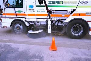 Caltrans Tests Global M4 Zero Emissions Street Sweeper