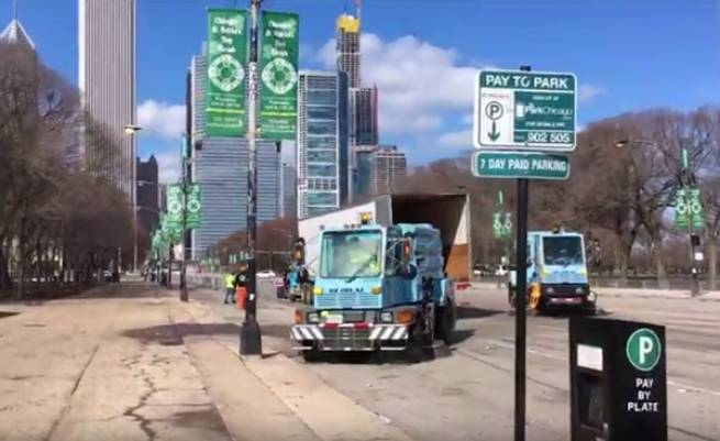 CHICAGO ST. PATRICK'S DAY PARADE SWEEP-UP 2019