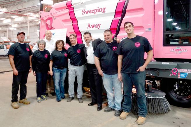 Global M3 Street Sweeper with Pink Panther Theme Unveiled to Help Fight Breast Cancer