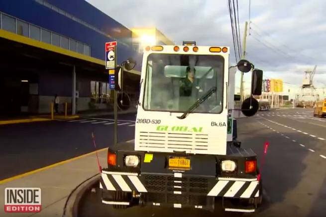 Beauty Queen Drives a Global Sweeper For A Living